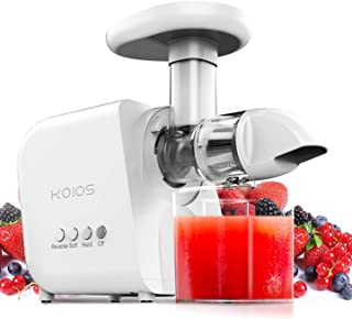 KOIOS Juicer, Masticating Juicer Machine, Slow Juice Extractor with Reverse Function, Cold Press Juicer Machine with Quiet Motor, 2019 Juicer, Easy to Clean with Brush