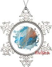Seamless Sea Waves Decorative Pattern Christmas Ornaments,Christmas Tree Decoration Ornaments,Christmas Keepsake 2020 Xmas...