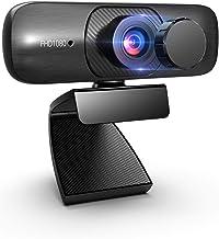 Solofish Webcam with Microphone, 1080P Autofocus Conferencing Camera USB Laptop Webcams with Privacy Cover, Desktop 120 De...