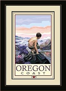 Northwest Art Mall JK-1687 MFGDM TP Oregon Coast Tide Pool Framed Wall Art by Artist Joanne Kollman, 13 by 16-Inch