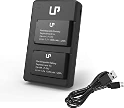 LP LP-E12 Battery Charger Set, 2-Pack Battery & Dual Charger, Compatible with Canon EOS M, M2, M10, M50, M100, 100D, Kiss M, Kiss X7, SL1 & More