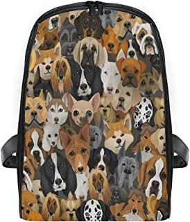 ZZXXB Dog Cat Family Backpack Kids Toddler Child Preschool Kindergarten Waterproof Book Bags Travel Daypack for Boys and Girls