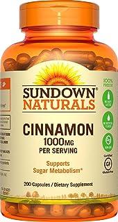 Sundown Naturals Cinnamon 1000 mg, 200 Capsules