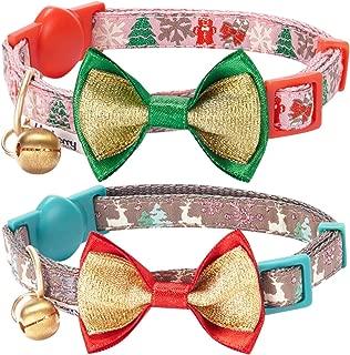 Blueberry Pet 3 Designs Holiday Celebration Cat Collars