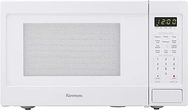 Kenmore Elite White 70912 Countertop Microwave, 0.9 cu. ft