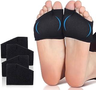 بالشتک متاتارسال - سایز متوسط (زنان 5 تا 13.5 ، مردان 6 تا 12 سال) ، 2 جفت بالش بال بالدار با پد ژل برای مشکلات پا ، لنت های مراقبت از پا نرم و فشرده سازی ، تسکین دهنده درد پا - سیاه