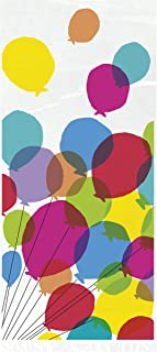 Unique Party 73129 - Cellophane Balloons & Rainbow Birthday Party Bags, Pack of 20
