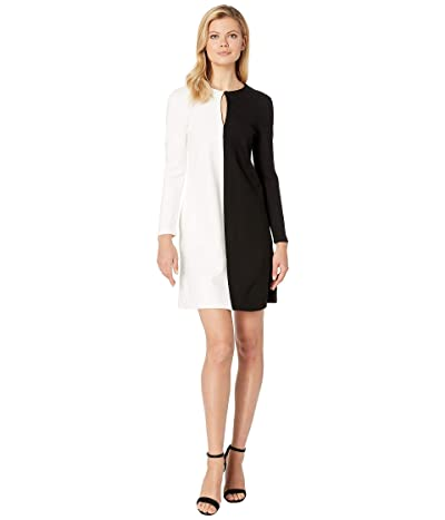 Kenneth Cole New York Half and Half Dress (Black/E-Cream) Women