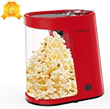 Electric Hot Air Popcorn Maker, Popcorn Machine, 1200W Fast Popcorn Popper with Measuring Cup and Removable Container, Oil...