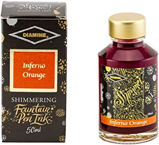 Diamine - Shimmering Fountain Pen Ink, Inferno Orange 50ml