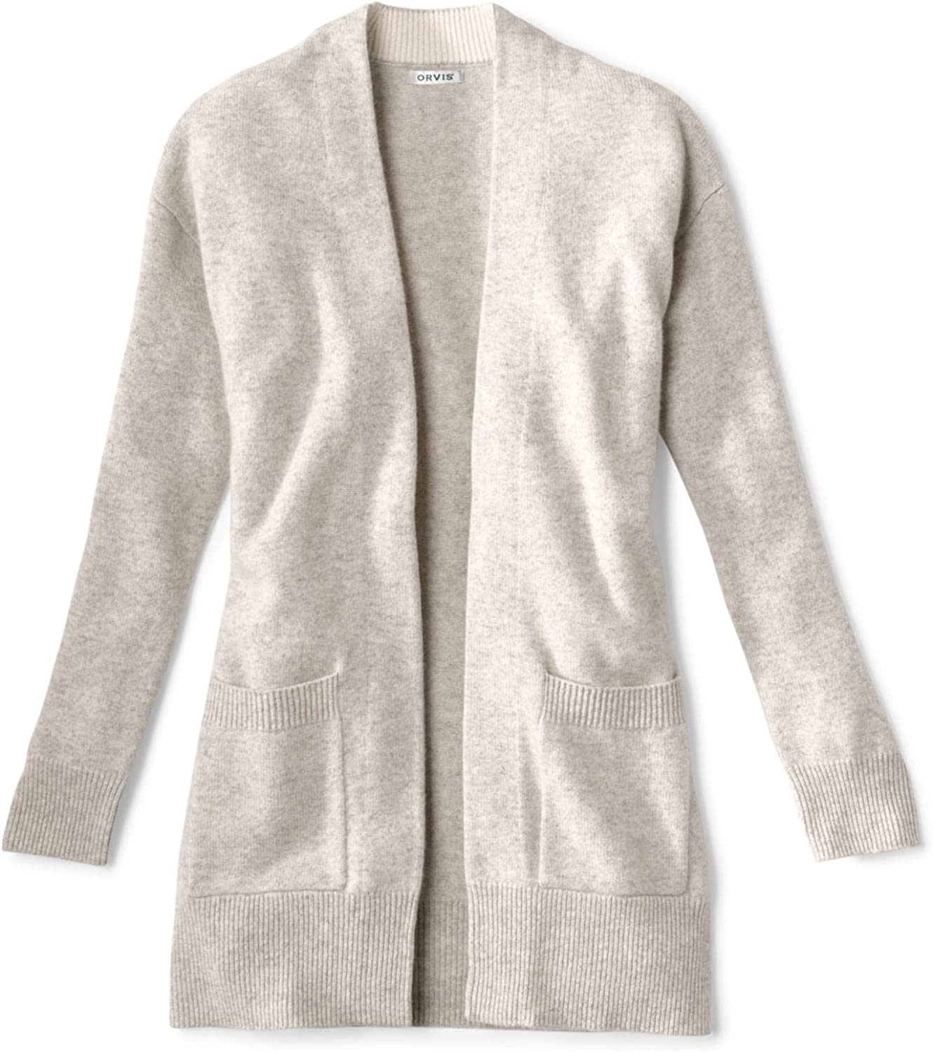 Orvis Women's Cashmere Open Front Cardigan Sweater