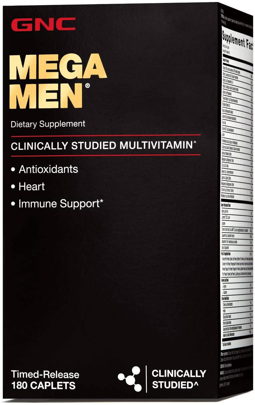 GNC Mega Men Multivitamin Max 77% OFF for Count 180 Limited time cheap sale Hear Antioxidants