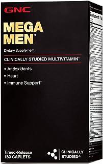 GNC Mega Men Multivitamin for Men, 180 Count, Antioxidants, Heart Health, and Immune Support
