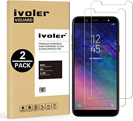 iVoler [Pack de 2] Verre Trempé Compatible avec Samsung Galaxy A6 2018 [Garantie à Vie], Film Protection en Verre trempé écran Protecteur pour Samsung Galaxy A6 2018 - Transparent