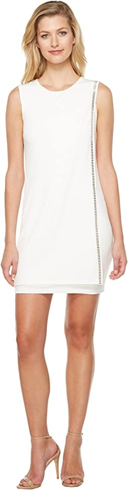 Sleeveless Front Drape Dress