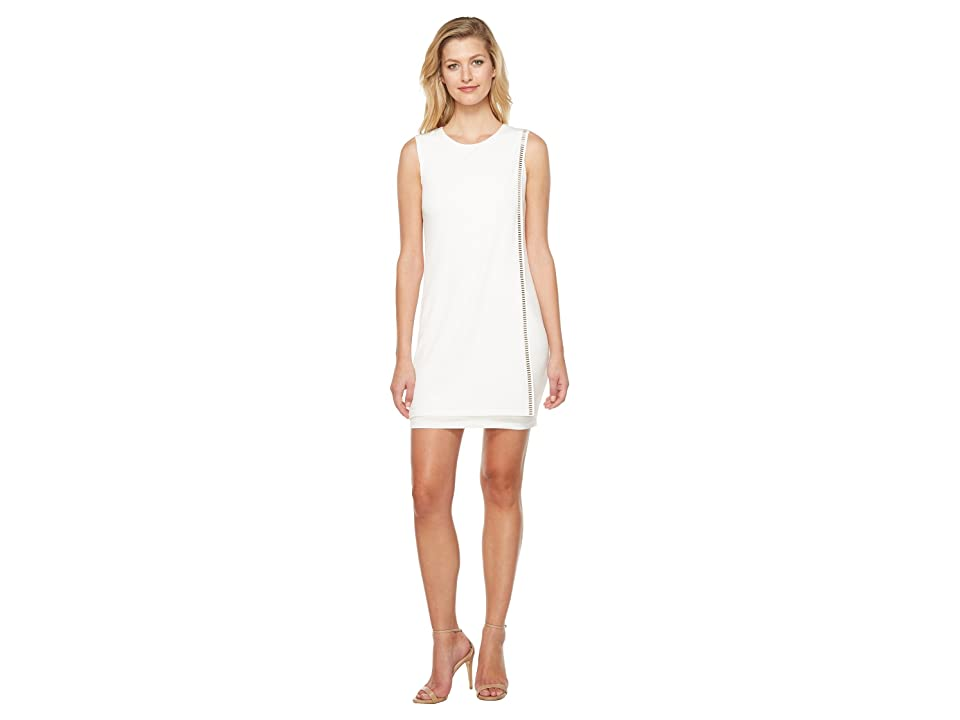 Jessica Simpson Sleeveless Front Drape Dress (Ivory 1) Women