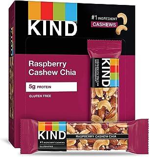 KIND Bars, Raspberry Cashew & Chia, Gluten Free, 1.4oz, 4 Count (Pack of 12)