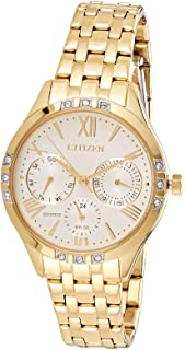 Citizen Women White Dial Stainless Steel Band Watch - ED8172-51A