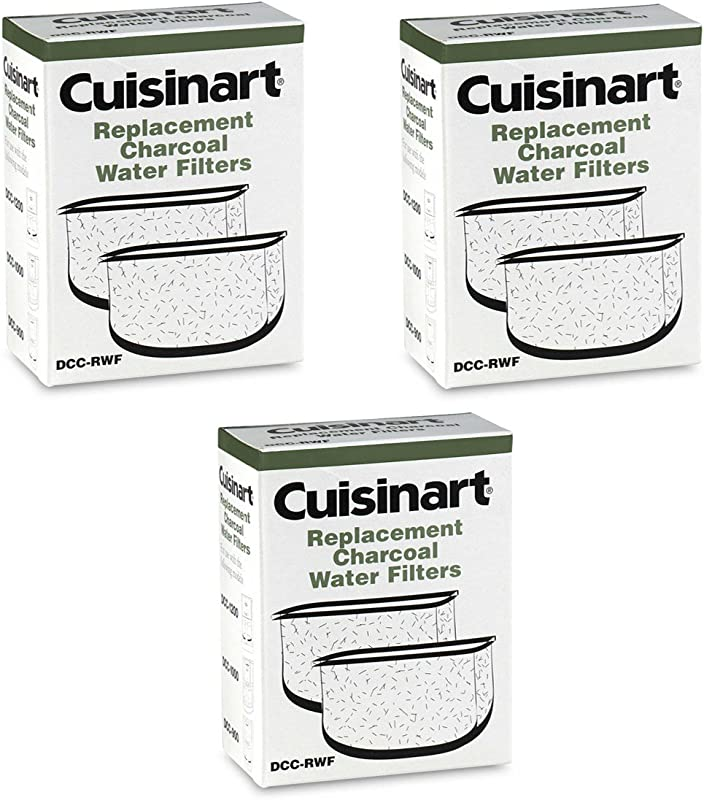 Cuisinart DCC RWF Charcoal Coffee Maker Water Filters For DCC 2800 2900 3 Pack 6 Filters