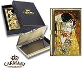 Carmani - Messing Metall, Gesch�ftsleben, Name, Kredit, ID Card Organizer, Card Case mit Gustav Klimt 'Der Kuss'