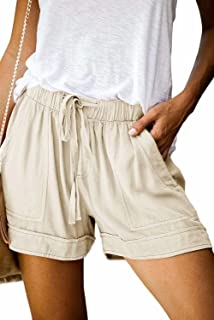 Womens Comfy Drawstring Shorts Casual Elastic Waist Loose...