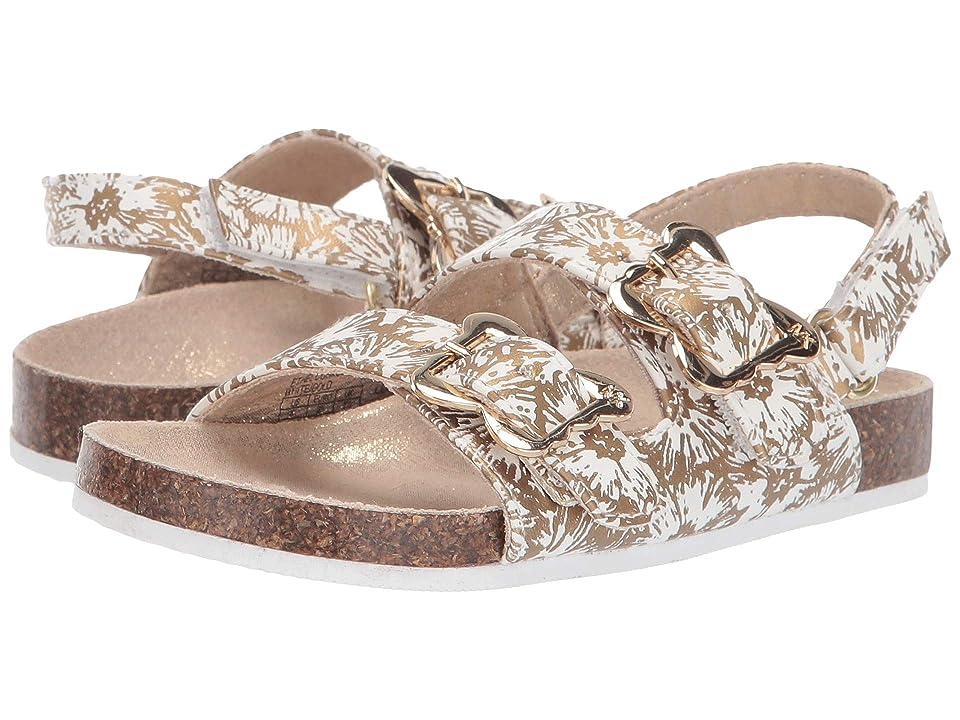 MICHAEL Michael Kors Kids Ethel Cosmos (Toddler) (White/Gold) Girls Shoes