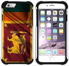 FJCases Sri Lanka Sri Lankan Waving Flag Shockproof Hybrid Hard/Soft 2-Layer Protection Case Cover for Apple iPhone 7 / iPhone 8