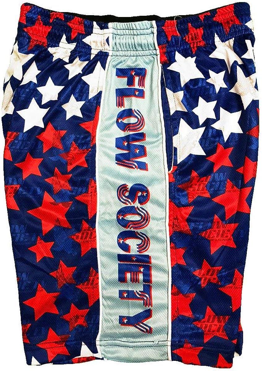 Flow Society Boys' Stars - Boys Athletic Shorts