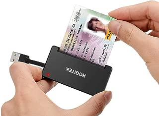 ROGITEK DOD Military USB Smart Card Reader/CAC Common Access Card Reader Writer/RT-SCR3