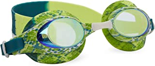 Bling 2O Kids Swimming Goggles - Green Snake Theme Swim Goggles for Boys - Anti Fog, No Leak, Non Slip, UV Protection with Hard Travel Case - 8+
