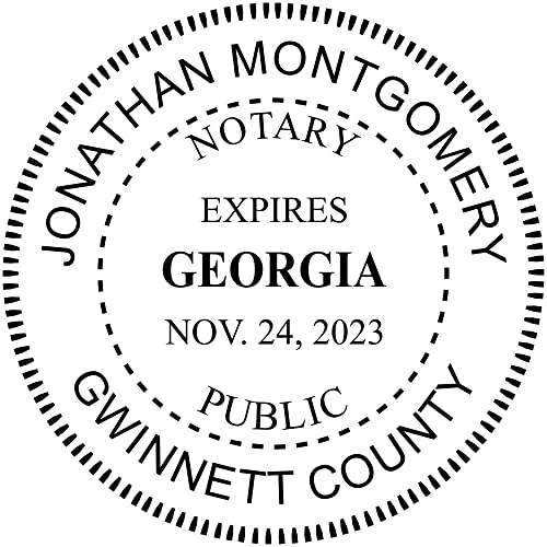Georgia Notary Round Seal Stamp