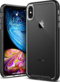 iPhone XS Max Case Cover, Caseology, Skyfall Series, Slim Fit Clear, Dual Layer, Black