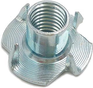 M10 h=13mm 20 St/ück verzinkt 10 x 13 20X Einschlagmuttern mit 4 Einschlagspitzen galv