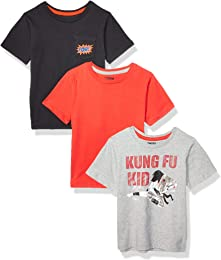 Marque Amazon - Spotted Zebra Lot de 3 t-Shirts à