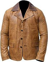 ARSIA Men's Retro Dead 2 Genuine Leather Jacket Coat