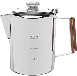 "Coletti""Bozeman"" Percolator Coffee Pot – 9 CUP Camping Coffee Pot 