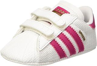 adidas Baby Girls' Superstar Crib Shoes, Footwear White/Bold Pink/Footwear White, 18-24 Months (18-24 Months)