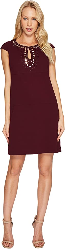 Jessica Simpson - Short Sleeve Dress w/ Keyhole Neck