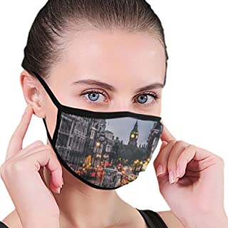 Face Mask London Street Black Border Masks Dustproof Balaclava Washable Mouth Cover For Sport Outdoor Activities