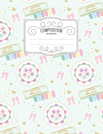 Composition Notebook: Kawaii College Ruled Narrow Line Comp Books for School - Platter Of Macarons