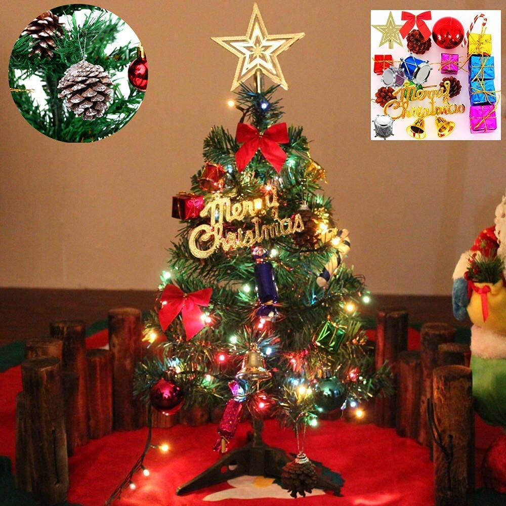 Tabletop Xmas OFFicial site Tree Artificial Mini LED Mail order cheap Pine with Christmas