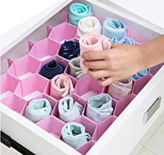 House of Quirk Honeycomb Closet Organizer Drawer Divider for Underwear Bras Socks Ties Scarves - Random Color Will Be Sent