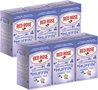 Sponsored Ad - Red Rose Teas Sweet Temptations Tea, 6 Boxes of 18 (108 Tea Bags), Blueberry Muffin