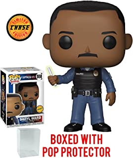 Funko Pop! Movies: Netflix Bright - Daryl Ward with Wand CHASE Variant Limited Edition Vinyl Figure (Bundled with Pop Box Protector Case)