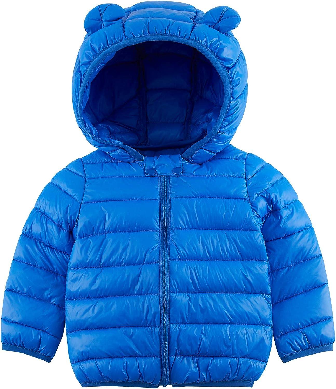 TUONROAD Baby Boys Girls Warm Winter Coat Kids Toddlers Infants Zipper Hoodie Puffer Jacket Outerwear