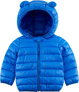 UNICOMIDEA Baby Boys Girls Winter Coat Puffer Jacket with Hoods Casual Daily Wear Lightweight Down Cotton for 6M-3T Kids