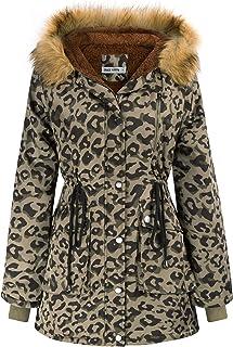Sponsored Ad - GRACE KARIN Womens Hooded Fleece Line Coats Parkas Faux Fur Jackets with Pockets