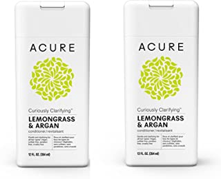 Acure Curiously Clarifying Lemongrass Conditioner, 12 Fluid Ounces PACK-2