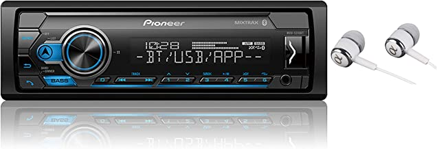 Pioneer MVH-S310BT Single Din Built-in Bluetooth, MIXTRAX, USB, Auxiliary, Pandora, Spotify, iPhone, Android and Smart Sync App Compatibility Car Digital Media Receiver / Free Alphasonik Earbuds