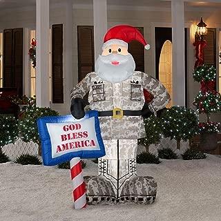 Christmas Decoration Lawn Yard Inflatable AIRBLOWN Military Santa 7' Tall (7'Tall)